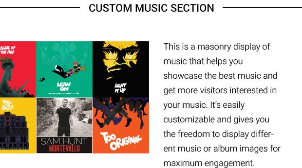 Custom Music Section
