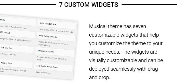 7 Custom Widgets