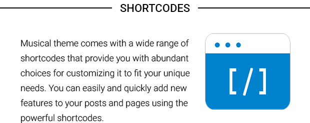 Shortcodes