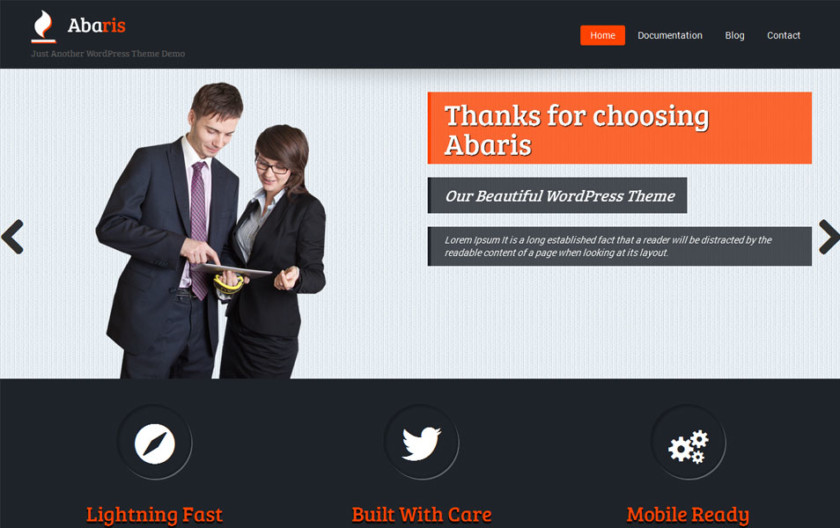 Abaris Free Portfolio WordPress Theme