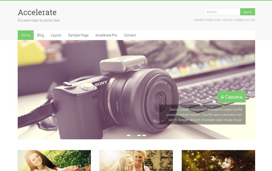 Accelerate Free Portfolio WordPress Theme