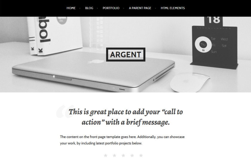Argent Responsive WordPress Theme