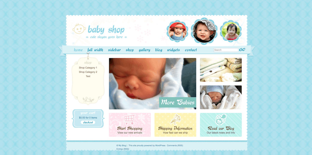 Cute   Sweet is most definitely up there with truly cuteness specific  themes. The baseline for Cute   Sweet is that it s a theme for baby related  stores and ... 923929e9a