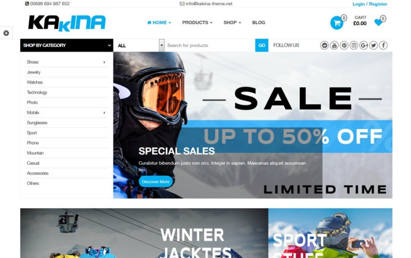 Kakina Responsive WordPress Theme