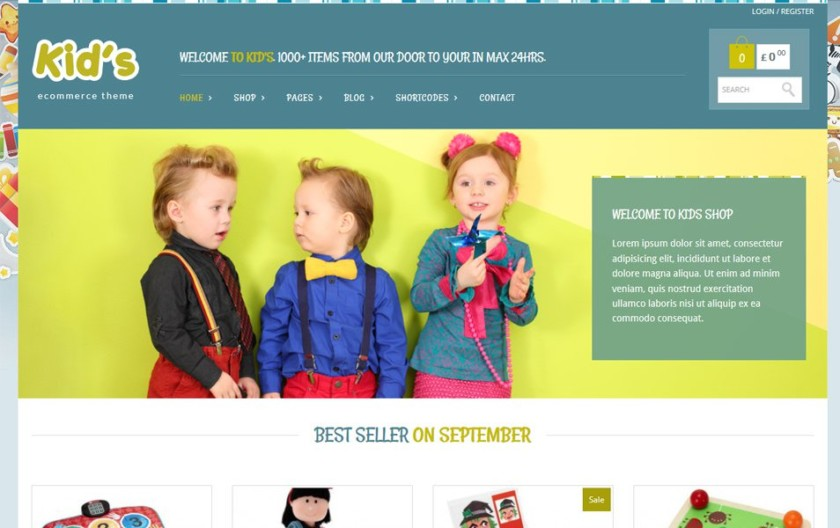 Kidshop Responsive WordPress Theme