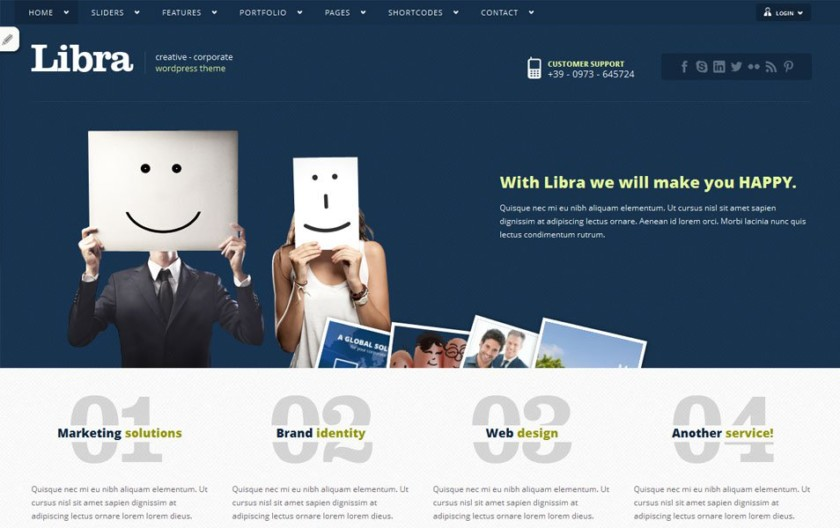 Libra Free Portfolio WordPress Theme