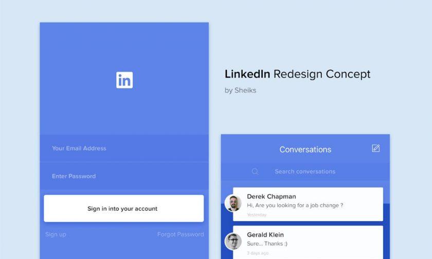 LinkedIn Redesign Concept