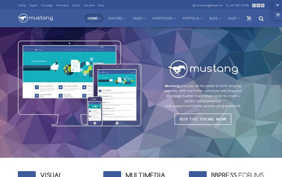 Mustang Lite Free Portfolio WordPress Theme