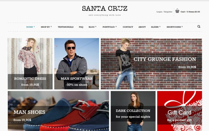 Santa Cruz Responsive WordPress Theme