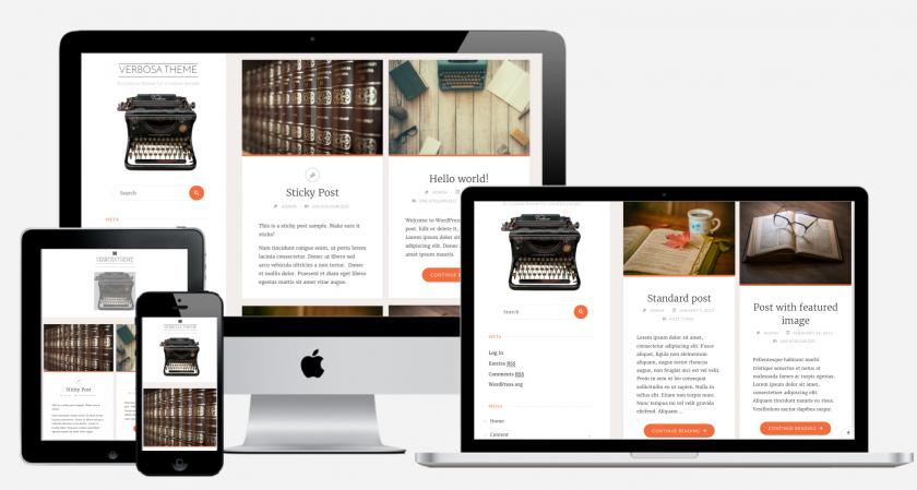 free WordPress theme for writers, authors and creators