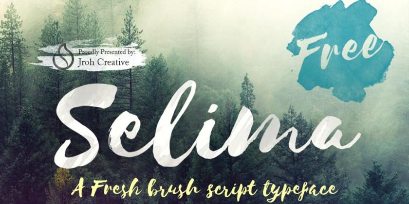 Selima Brush Script Font