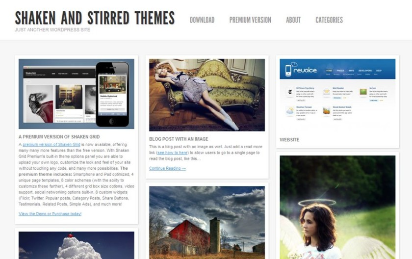 Shaken Grid Lite Free Portfolio WordPress Theme