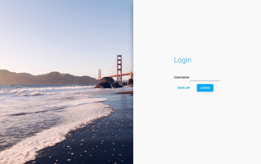 Sliding Login Form