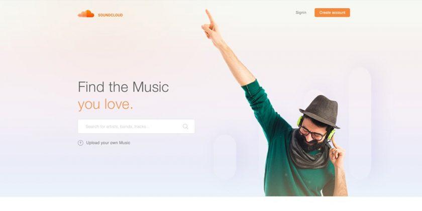 Sounndcloud Landing Page Design Concept