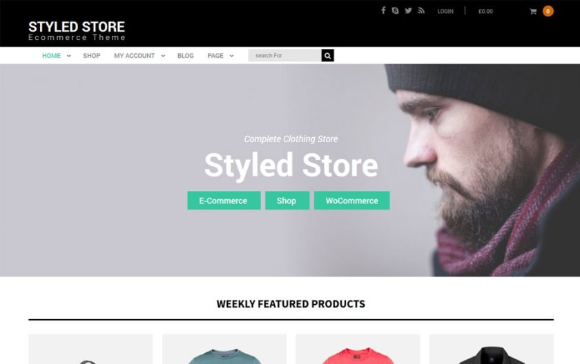 Styled Store Responsive WordPress Theme