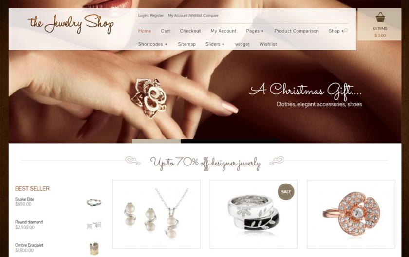 The Jewelry Shop Responsive WordPress Theme