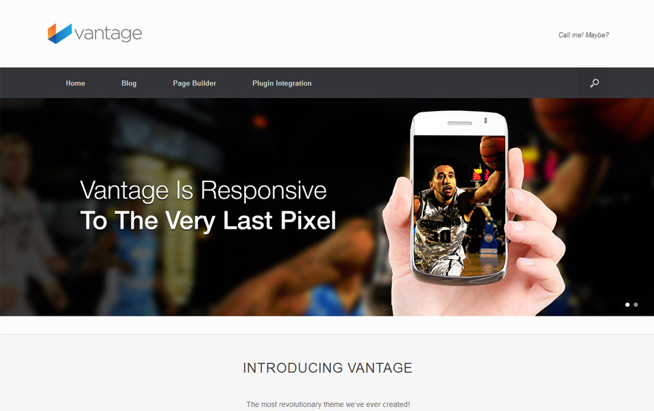 Vantage Free Portfolio WordPress Theme