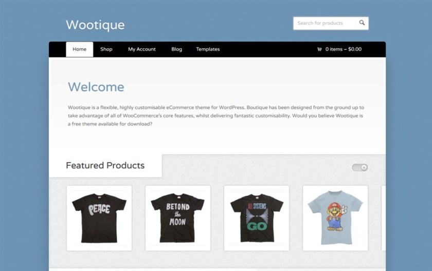 Wootique Responsive WordPress Theme