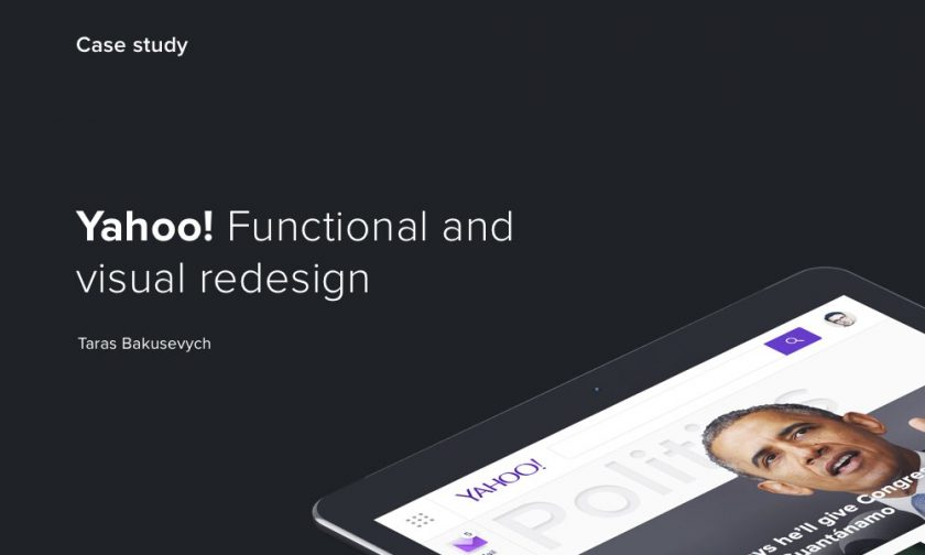 Yahoo Redesign Concept