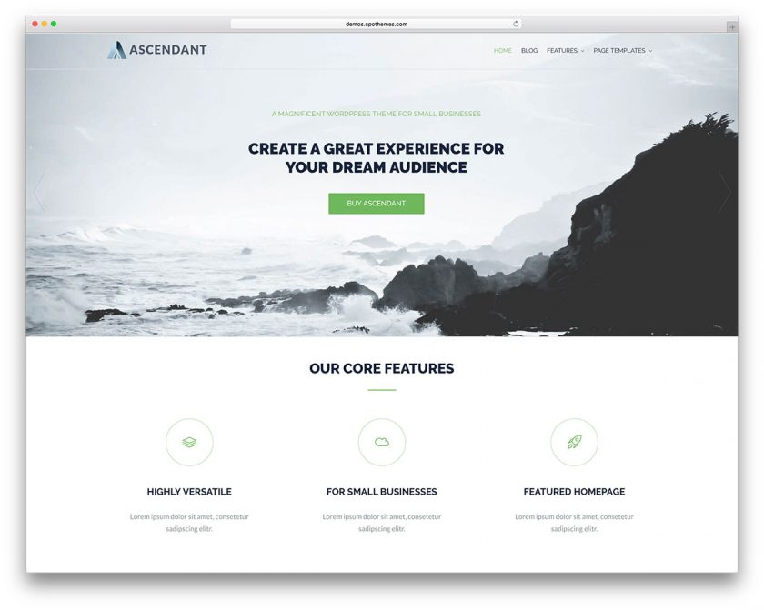 Top 13 best free corporatecompany wordpress themes for startups and ascendant is a wordpress theme quick and easy to set up for all kinds of users it is adjustable to any screen you can find you will get many shortcodes to accmission Choice Image