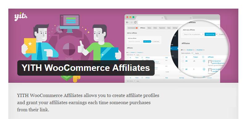 best affiliate wordpress plugins YITH WooCommerce Affiliates