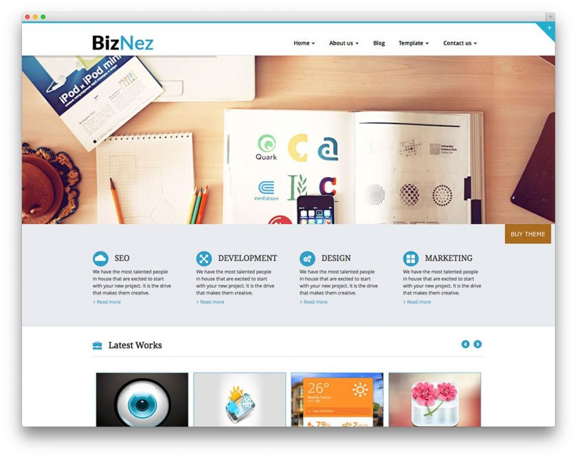 Top 13 best free corporatecompany wordpress themes for startups and biznez lite is an eye catching business wordpress theme with a clean and minimalistic design to show off your products or services in an organized and wajeb Images