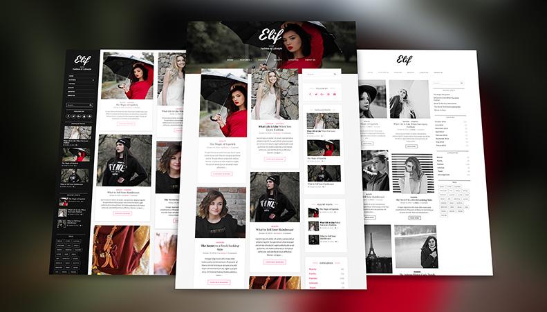 Elif lite - Free professional Fashion Blog & Portfolio WordPress ...