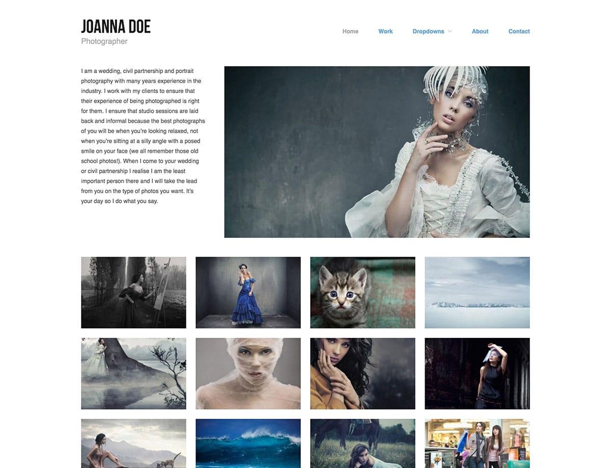 Top 20 free portfolio Wordpress themes for Photographers