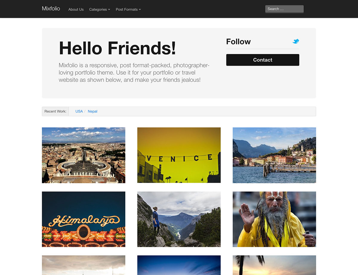Free Wordpress Templates For Pographers | Top 20 Free Portfolio Wordpress Themes For Photographers Designers