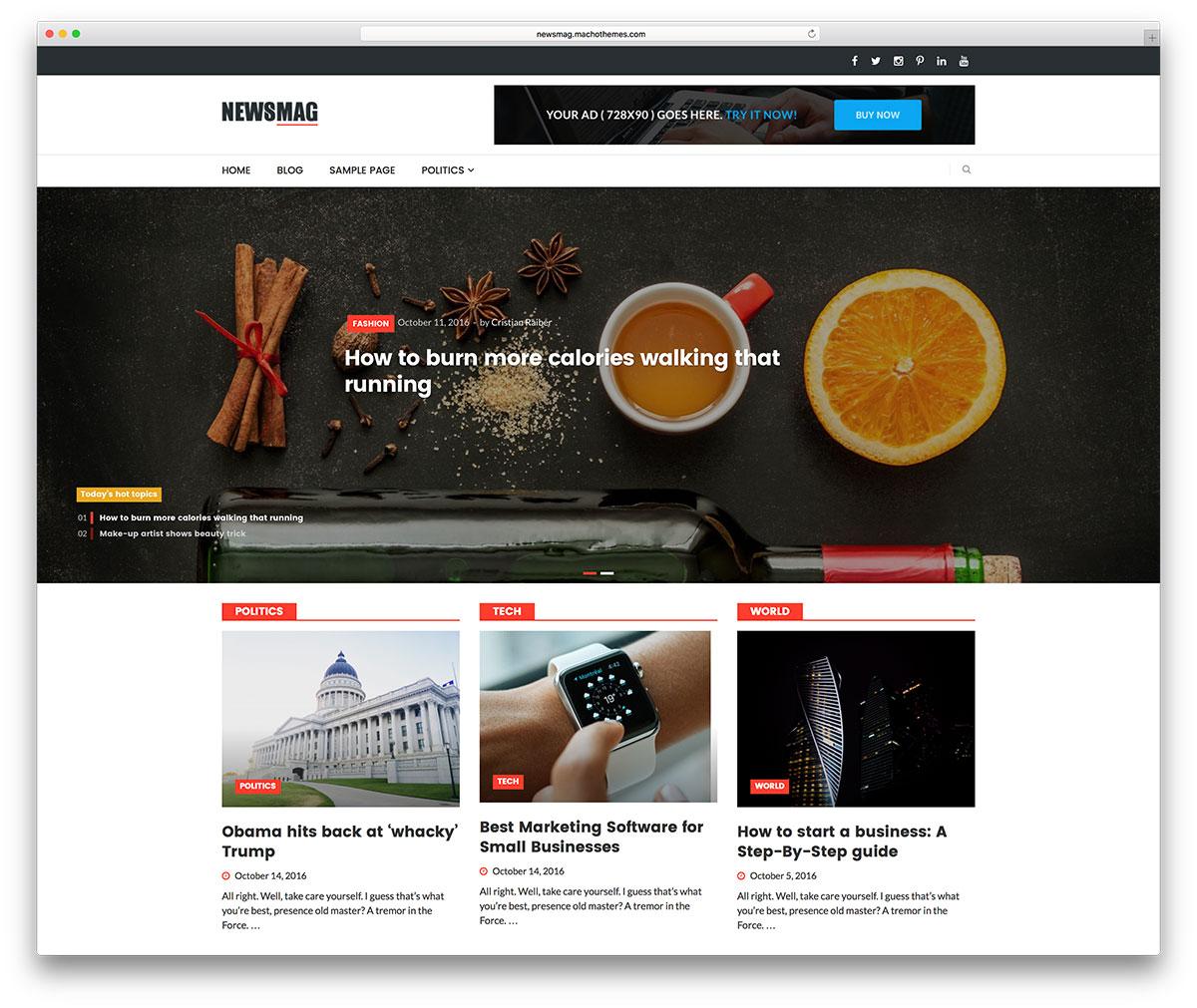 Best 7 free premium and professional Magazine style Wordpress themes ...