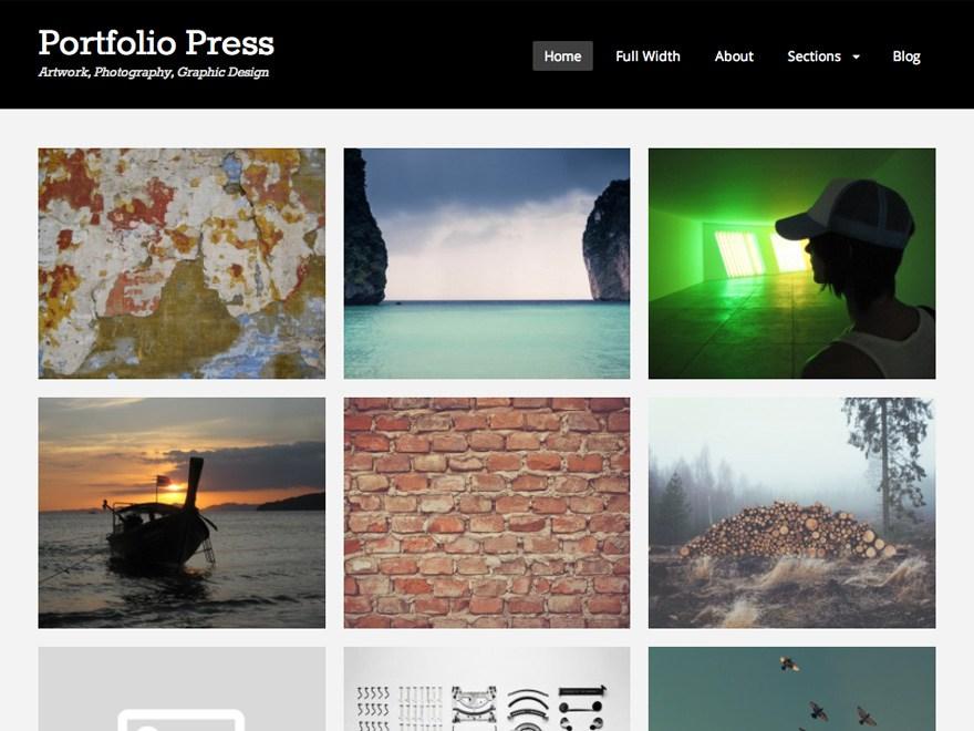 top 20 free portfolio wordpress themes for photographers designers
