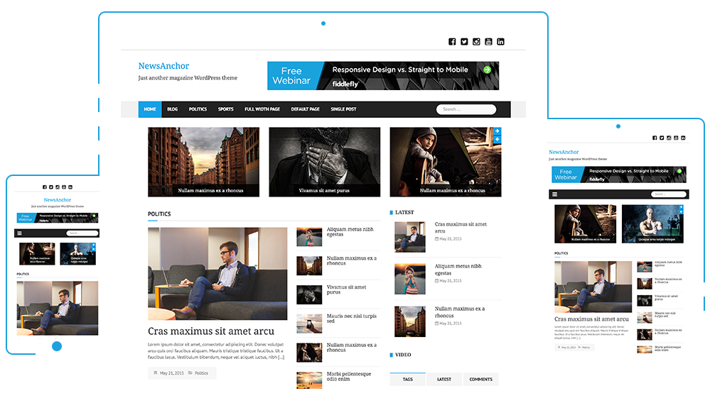 Best 7 Free Premium And Professional Magazine Style Wordpress Themes