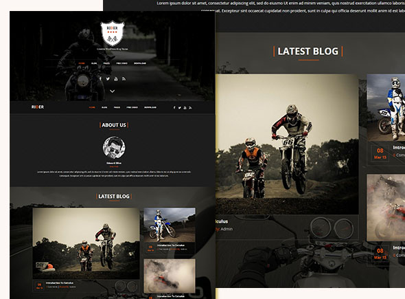 rider - sports blog wordpress theme