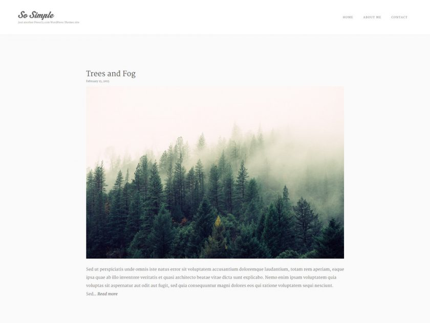 free minimal theme for wordpress