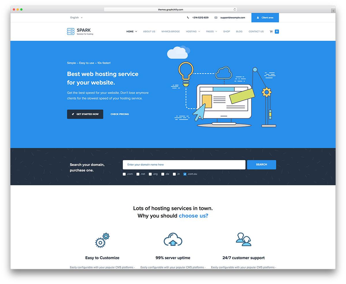 Top 8 Premium Responsive Whmcs Hosting Wordpress Themes Geethemes