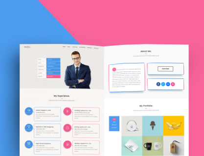 Webres Free One Page Resume Wordpress Theme Geethemes