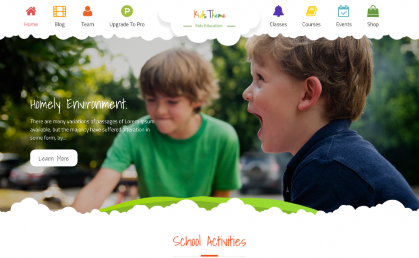 Kids Education Free Wp Theme