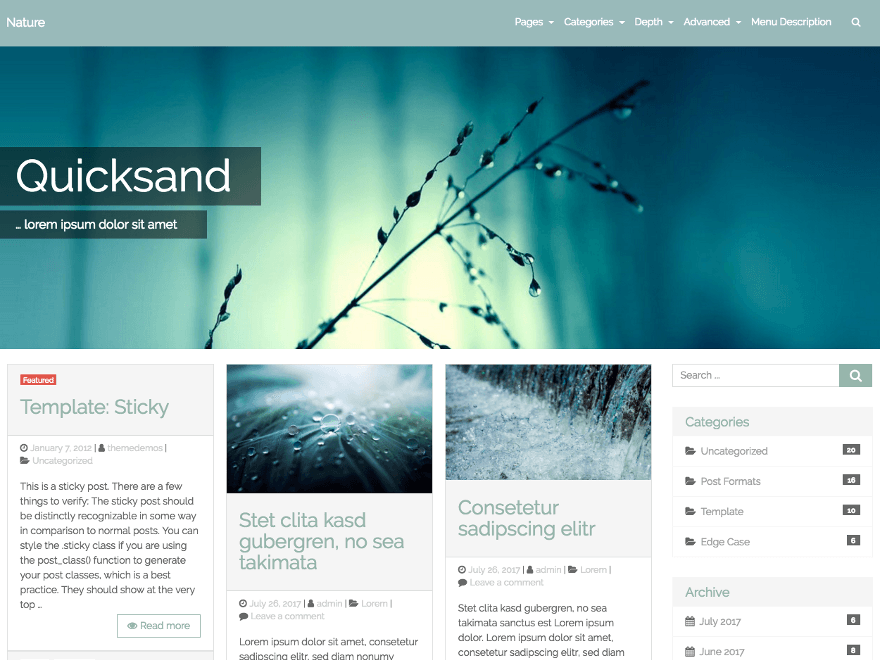 Quicksand Bootstrap Wp Theme