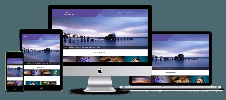 Free Plum is a Multipurpose WordPress theme