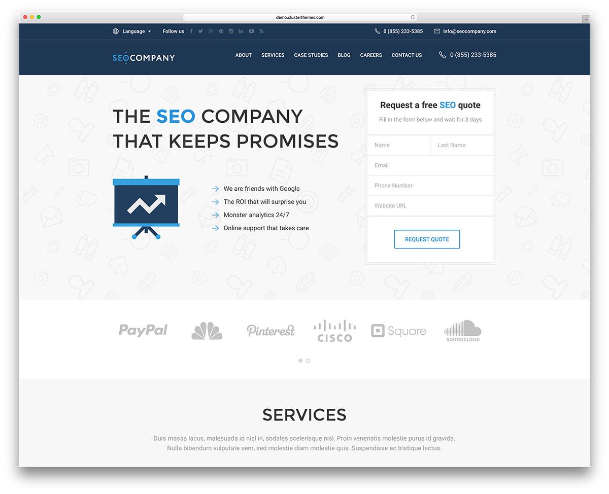 Top 15+ SEO optimized Wordpress theme for SEO company, marketing ...