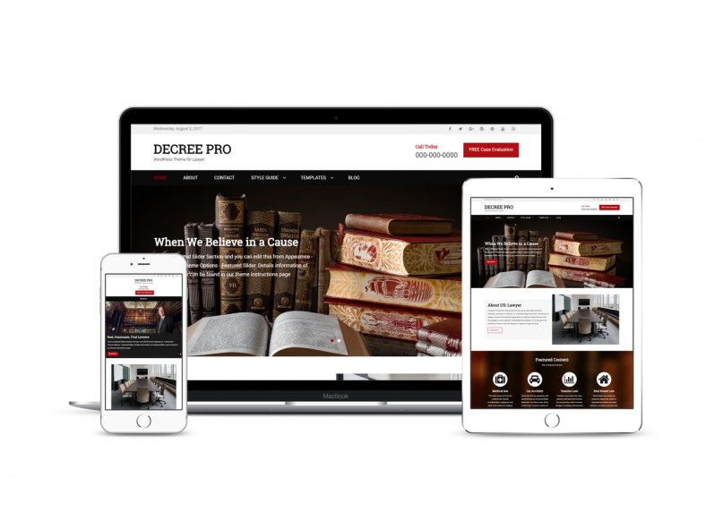 Decree Free Lawyer Wordpress Theme