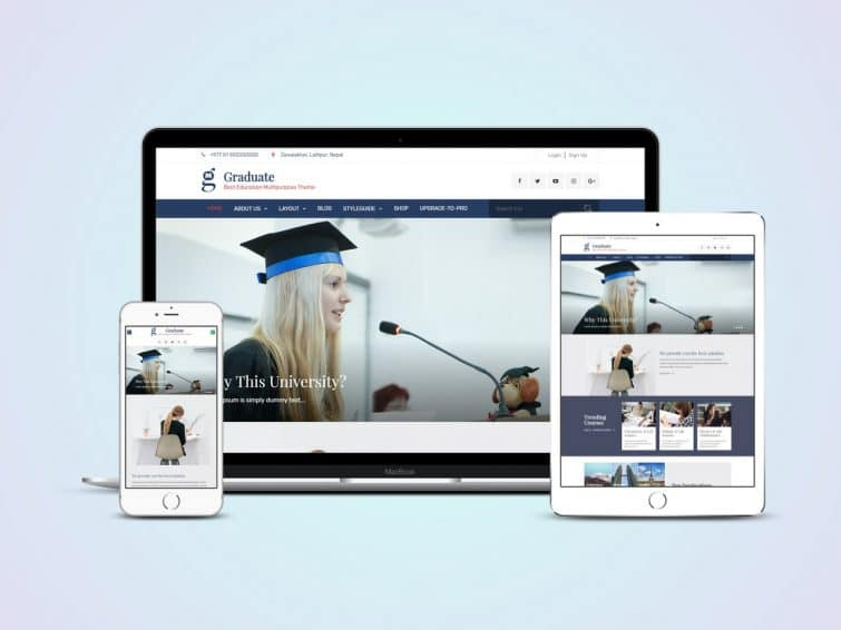 Graduate Free Professional Education Wp Theme