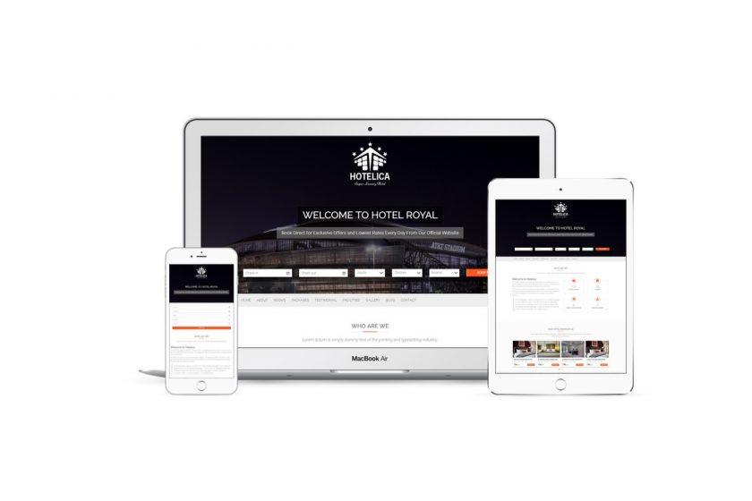 Hotelica Free Hotel Resort WordPress Theme