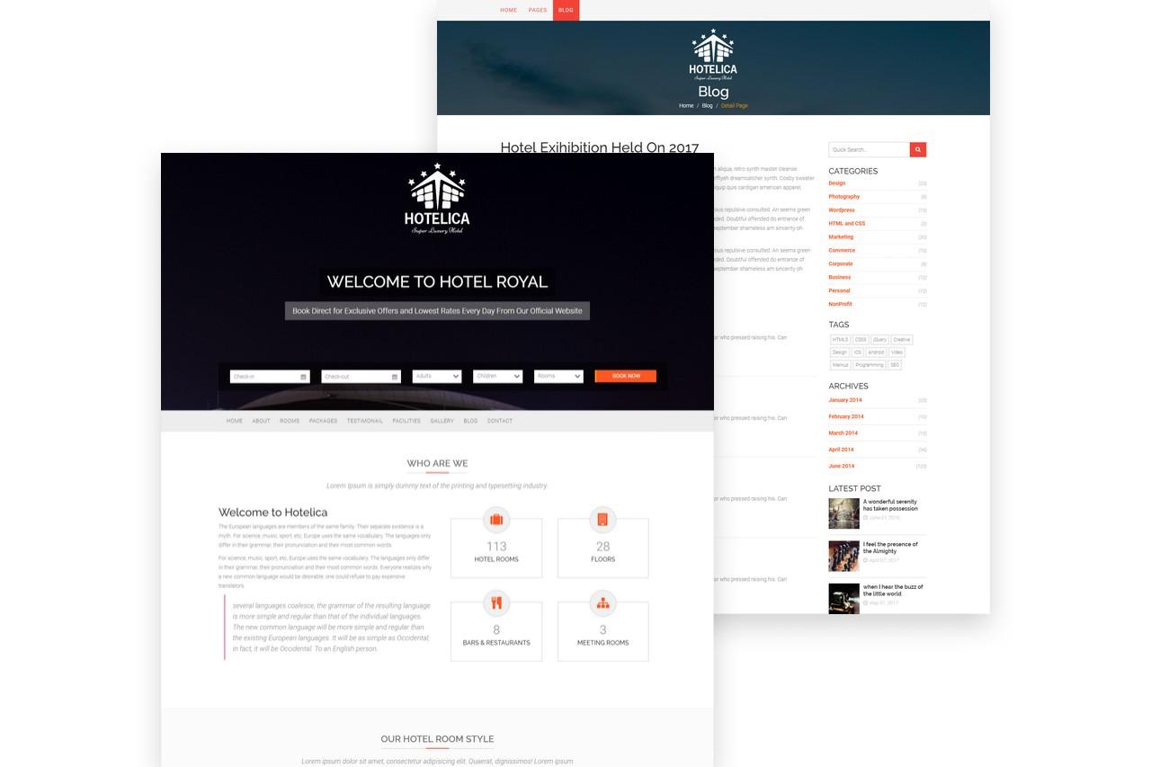 Hotelica Homepage Blog Screenshot