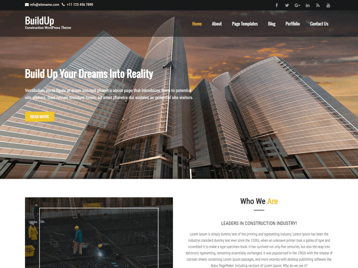 Buildup Free Wp Theme