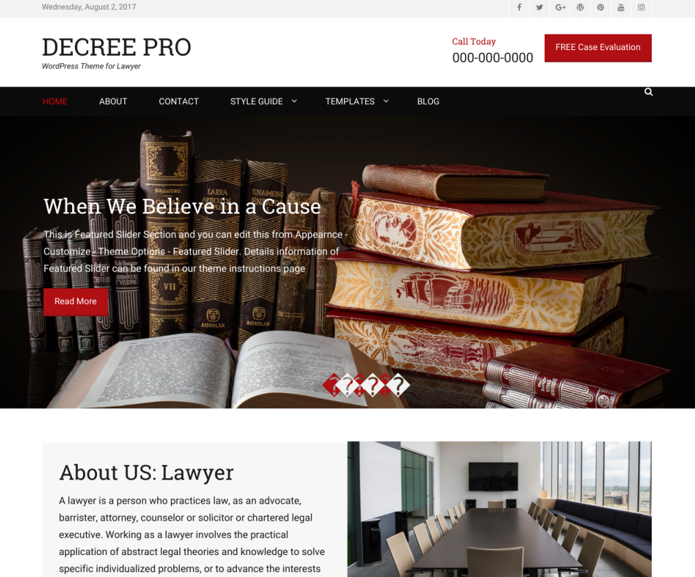 Decree Free Lawyer Wp Theme