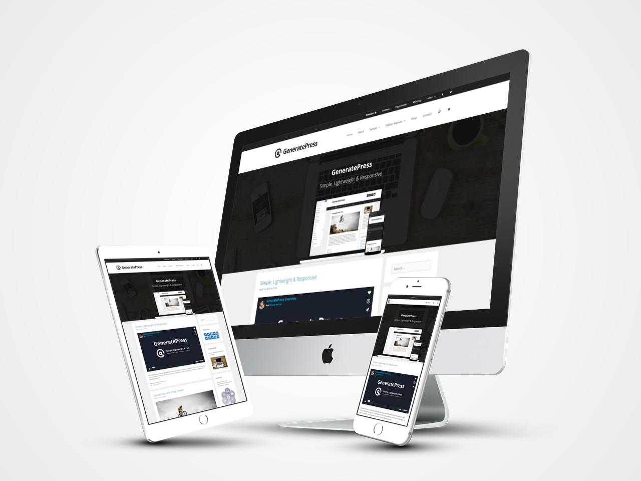 Generatepress Free Lightweight Seo Wordpress Blogging Theme
