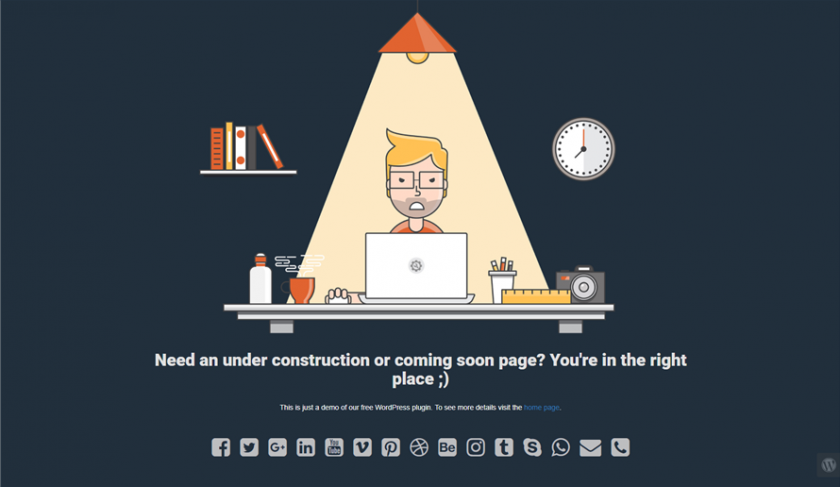 Under Construction Coming Soon Wp Plugin
