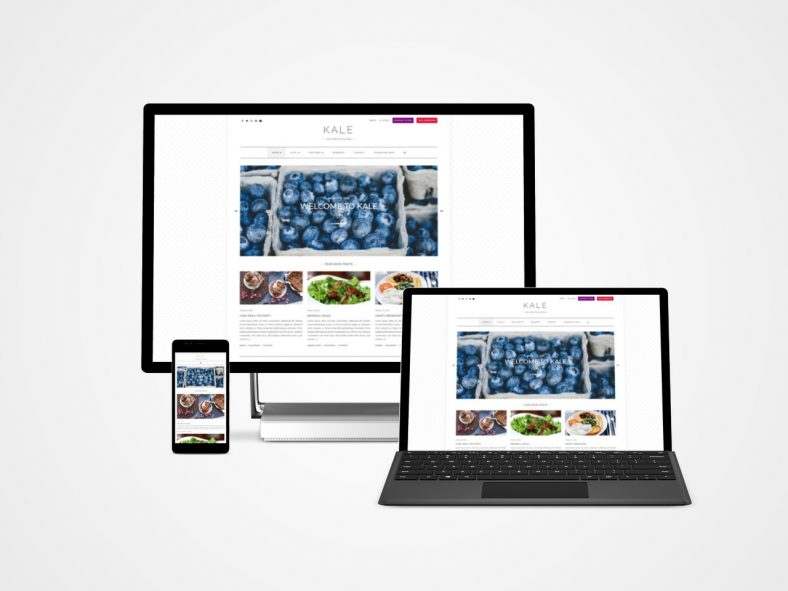 Kale Free Responsive Wp Food Blogging Theme