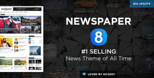 News8paper Wordpress theme screenshot